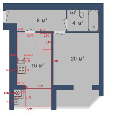 Помогит, пожалуйста, создать дизайн кухни-гостинной с панорамным окном