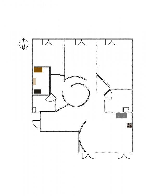 Круглая комната внутри-5