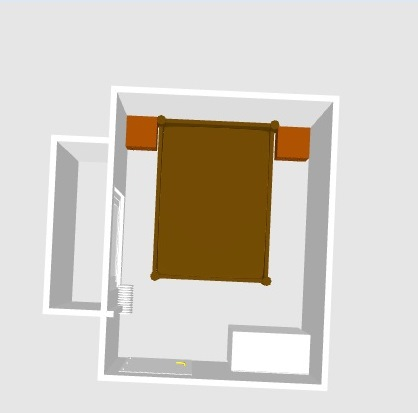 Цветовое решение для маленькой спальни