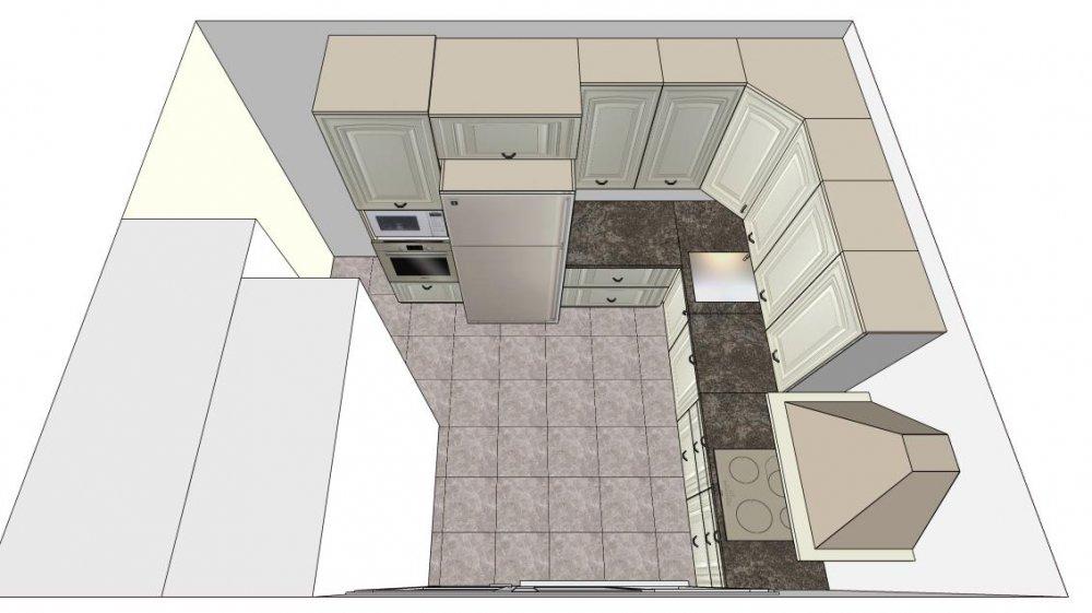 Планировка новой кухни