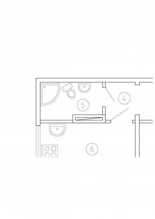 Перепланировка квартиры в деревянном доме-2