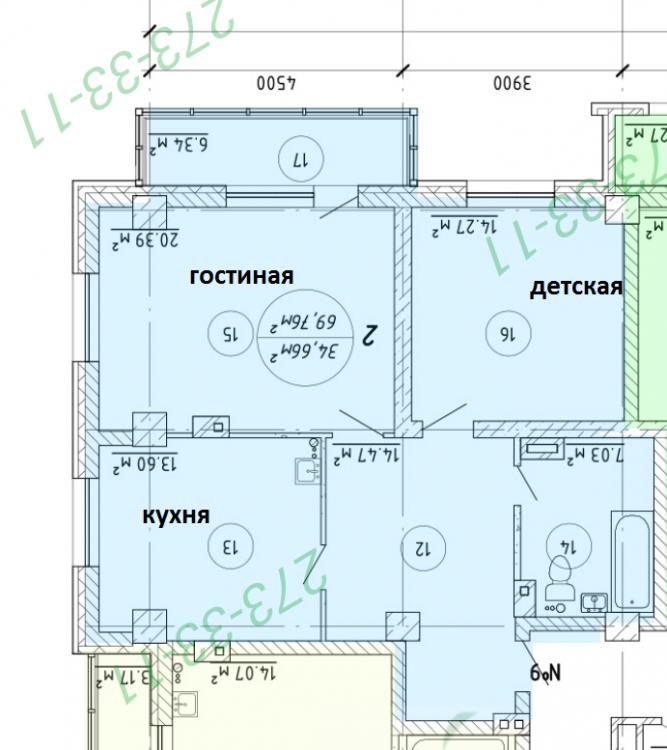 Квартира для семьи из трех человек