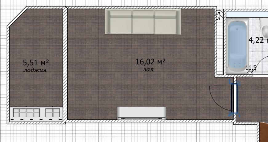 Совмещенный зал и кухня с лоджиями. Помощь в планировке-2
