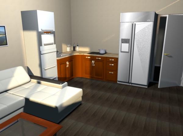 Помощь в планировке кухни-гостиной 5х4 (20 кв. м)-3