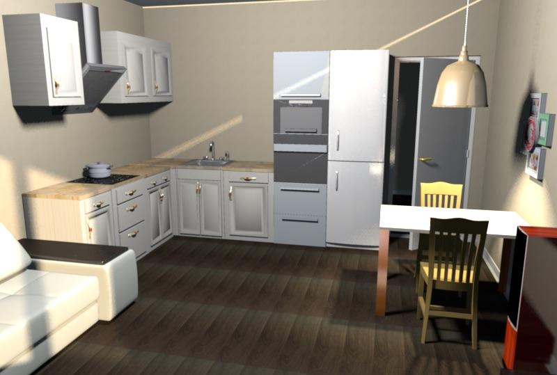 Помощь в планировке кухни-гостиной 5х4 (20 кв. м)-4