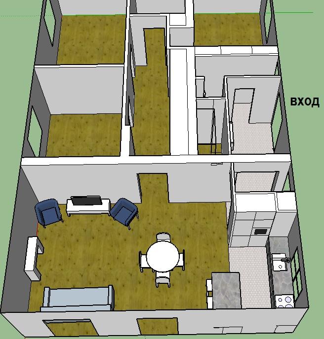 Покупка дома на стадии коробки - как расставить стены и мебель?-2