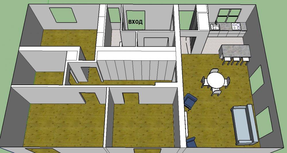 Покупка дома на стадии коробки - как расставить стены и мебель?-3