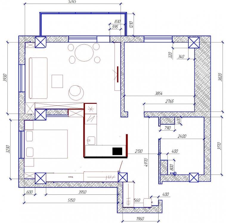 Квартира для семьи из трех человек-2