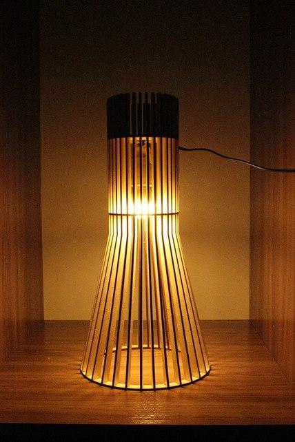 Светильник из фанерки / параметрика-5