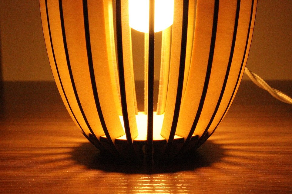 Светильник из фанерки / параметрика-4