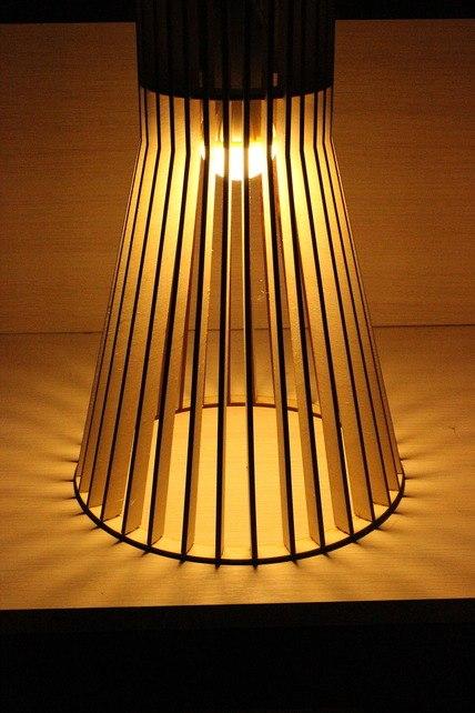 Светильник из фанерки / параметрика-6