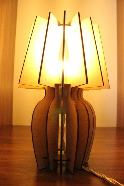 Светильник из фанерки / параметрика-2
