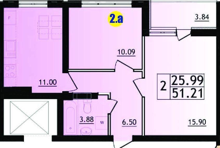 Перепланировка 2к 51,2 м2-2