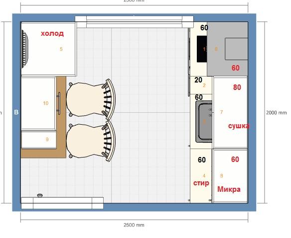 Головоломка тетрис-кухня 5 кв