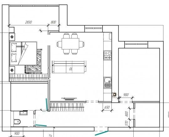 Помогите советом по перепланировке квартиры в новострое 75 м2-2