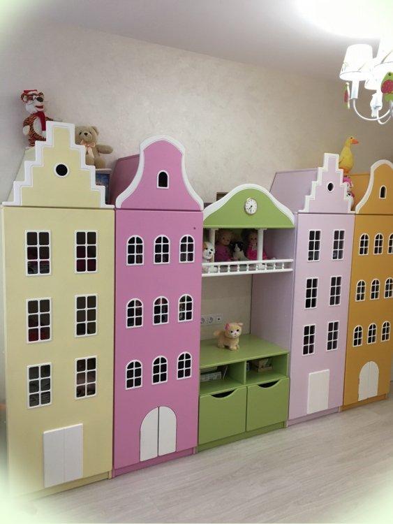 Голландские шкафы-домики в детскую.-14