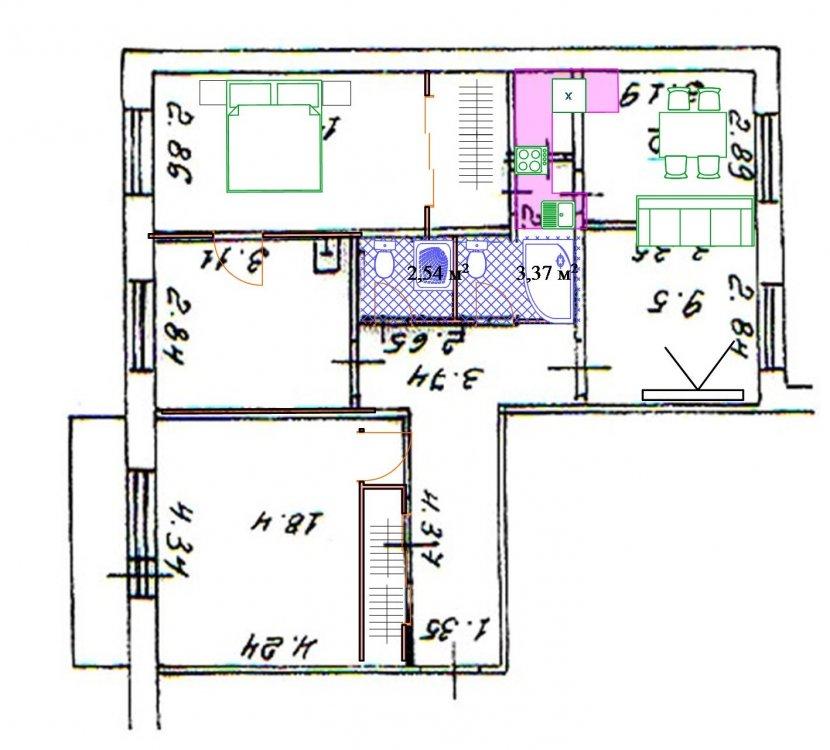 Четырехкомнатная квартира для нашей семьи