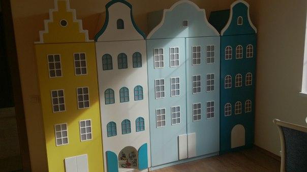 Голландские шкафы-домики в детскую.-9
