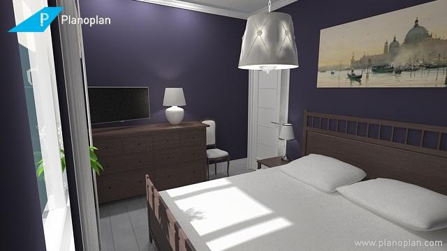 Темные стены в маленькой спальне не станут ли ошибкой?-2