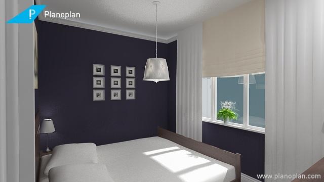 Темные стены в маленькой спальне не станут ли ошибкой?-3