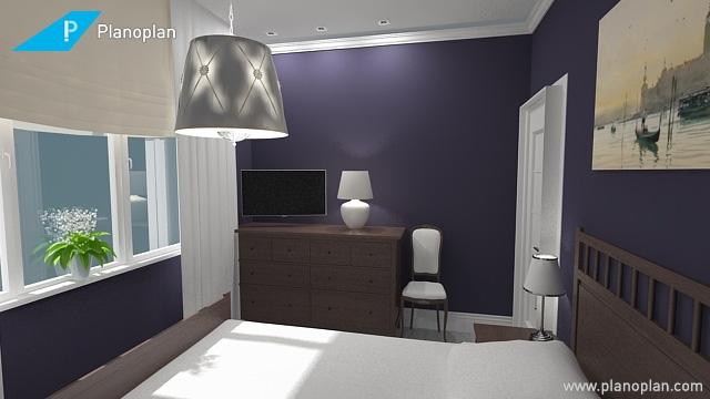 Темные стены в маленькой спальне не станут ли ошибкой?-4