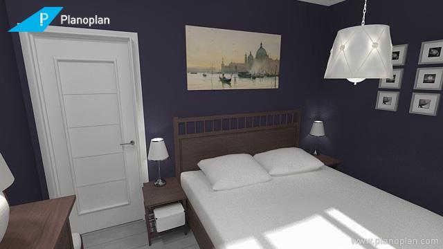 Темные стены в маленькой спальне не станут ли ошибкой?-5