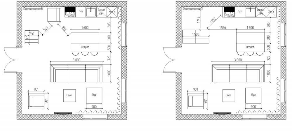 Гостиная в коттедже-3