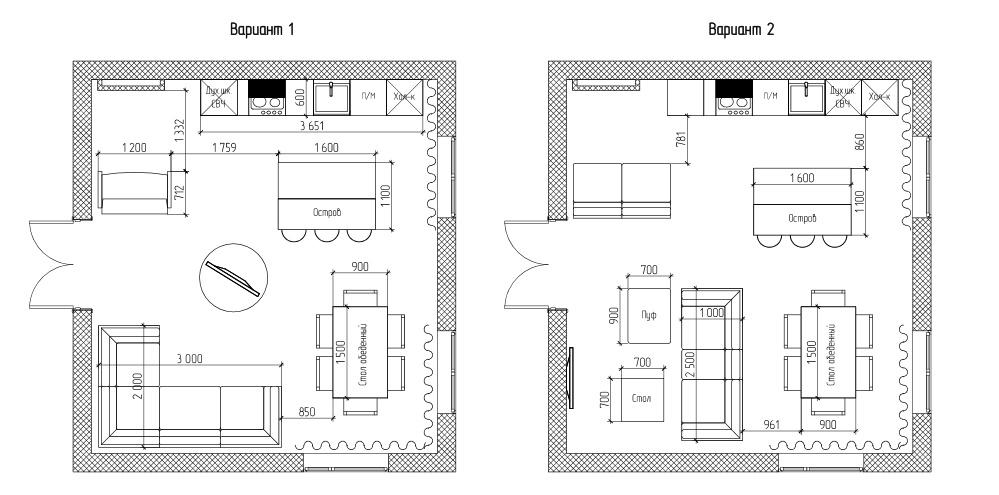Гостиная в коттедже-2