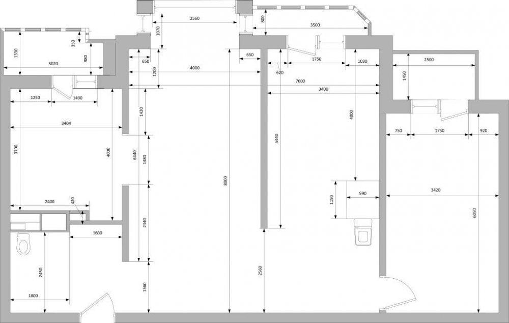 Из 100м2 Трешки в Евро4-ку (панель, линейная планировка)