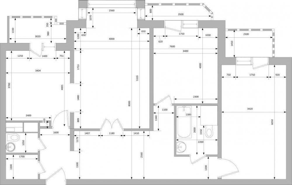 Из 100м2 Трешки в Евро4-ку (панель, линейная планировка)-2