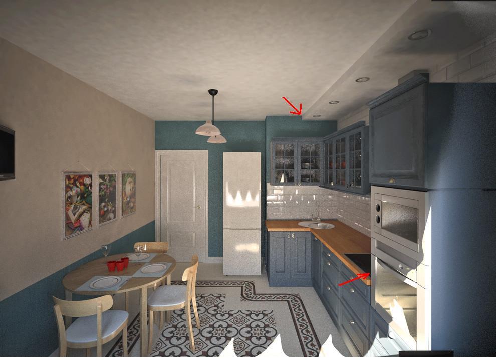 Беда с визуализацией кухни (((