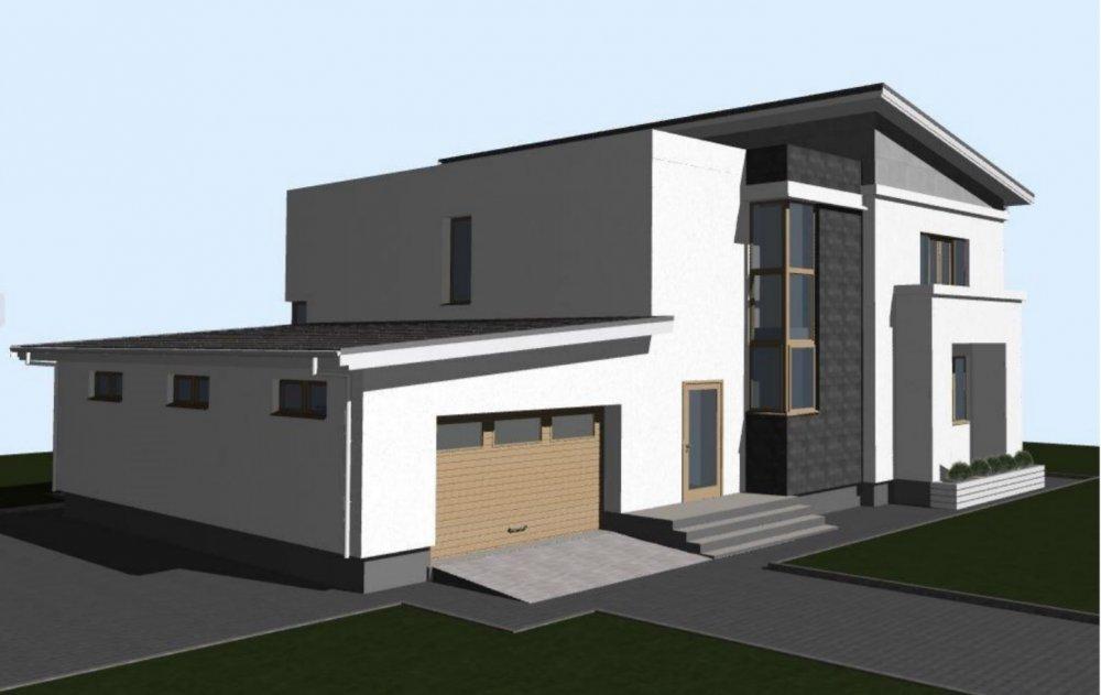 Нуждаюсь в идеи подбора козырька под дизайн дома-2