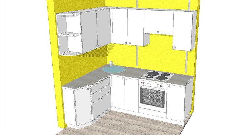 Цветовое решение маленькой кухни, нужна помощь