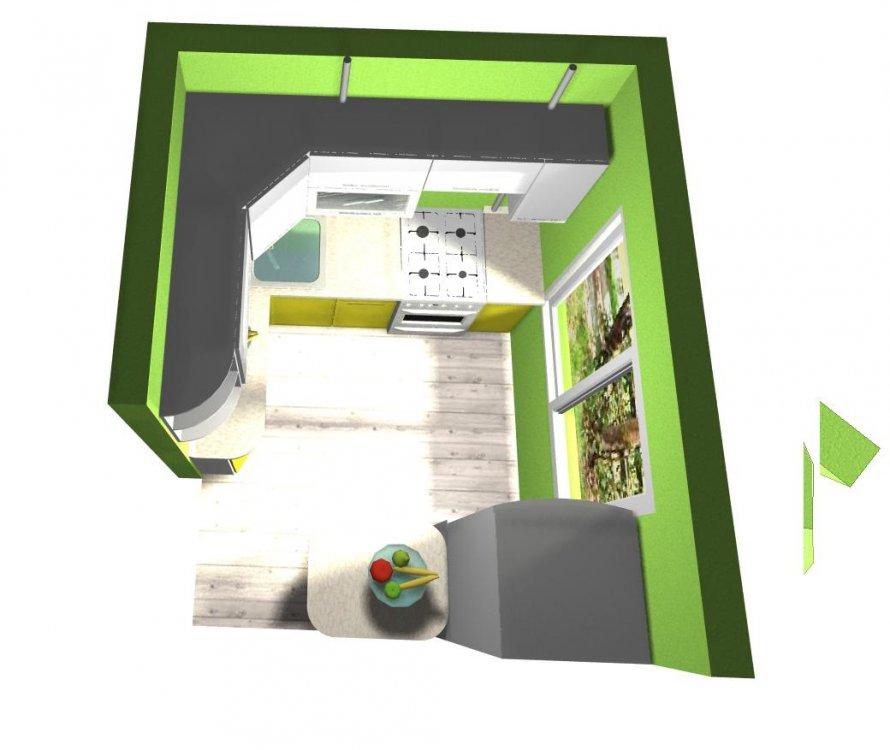 Цветовое решение маленькой кухни, нужна помощь-4