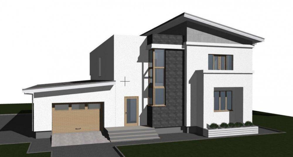 Нуждаюсь в идеи подбора козырька под дизайн дома-3