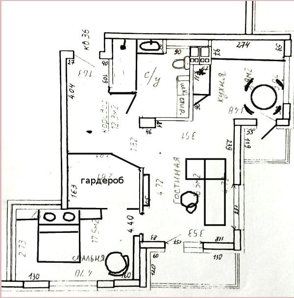 Перепланировка 2-шки 60м.кв-2