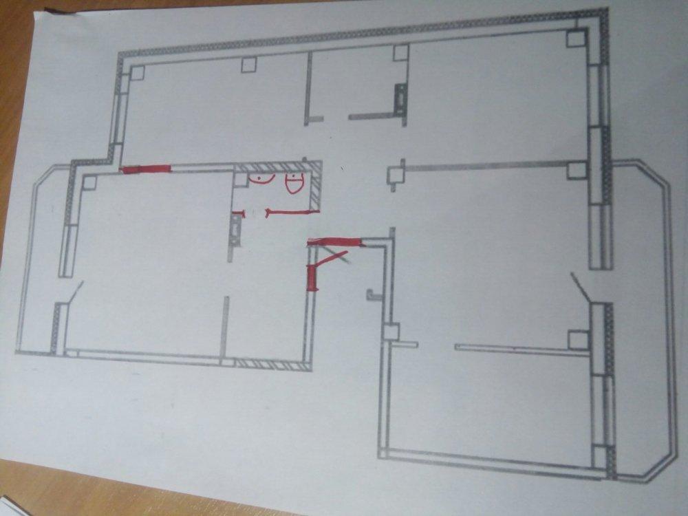 Перепланировка 4-комнатной с двумя проходными комнатами-3