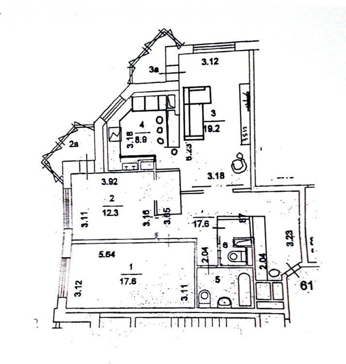 перепланировка 3шки в не типовом доме