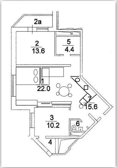 дизайн 2-комн квартиры или переделка в 3-комн
