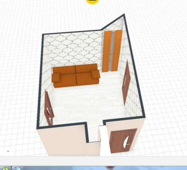 HELP!!!Острый угол с окном в проходной гостиной!Как обыграть угол?-2