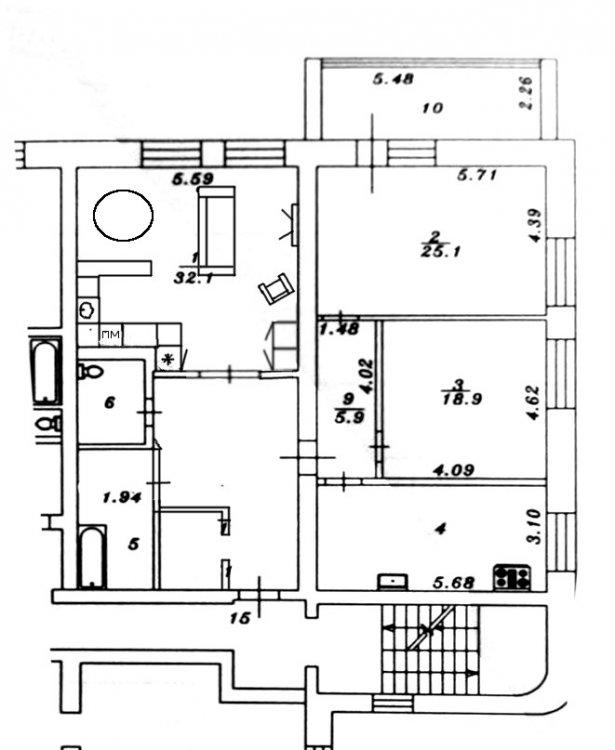 Кухня из 9 кв переезжает 32 кв