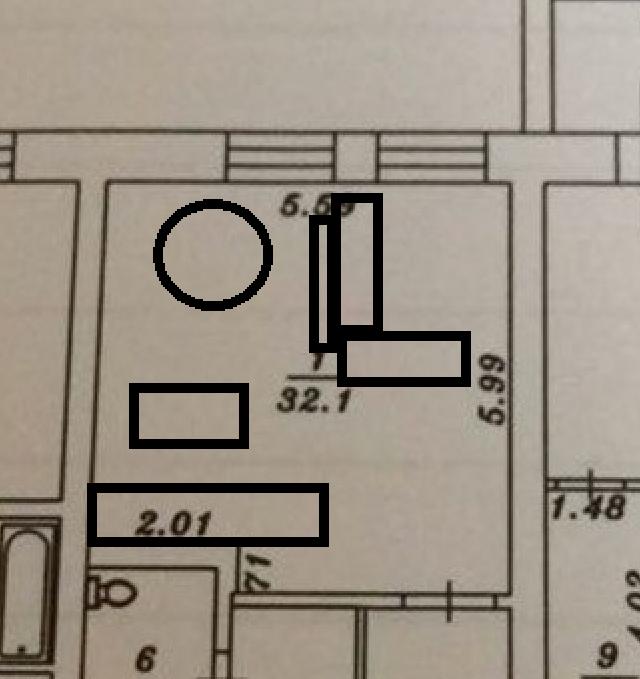 Кухня из 9 кв переезжает 32 кв-4