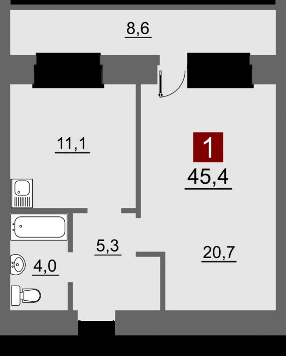 Помогите советом о зонировании гостинной-спальни.