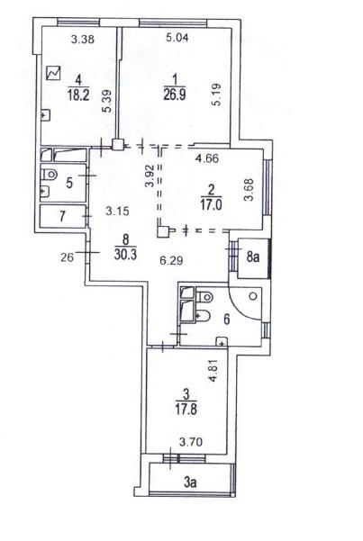 Требуются свежие идеи планировки трешки (125 кв.м.)