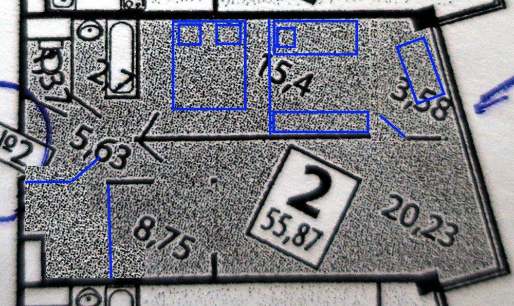 Евродвушка 55,8 кв.м. Минус лоджия плюс комната?-3