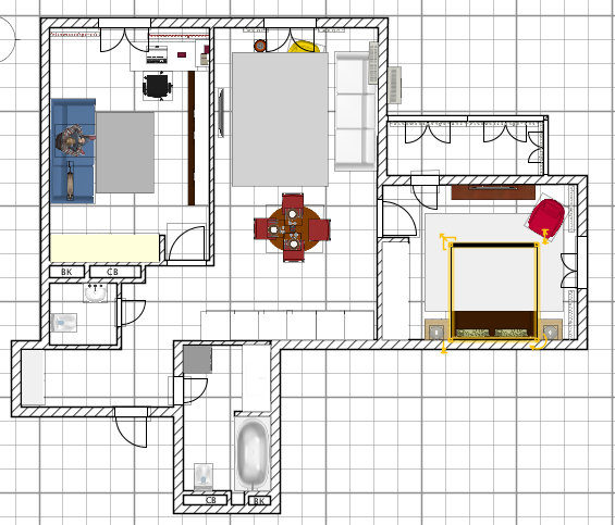 2-комнатная квартира для троих!