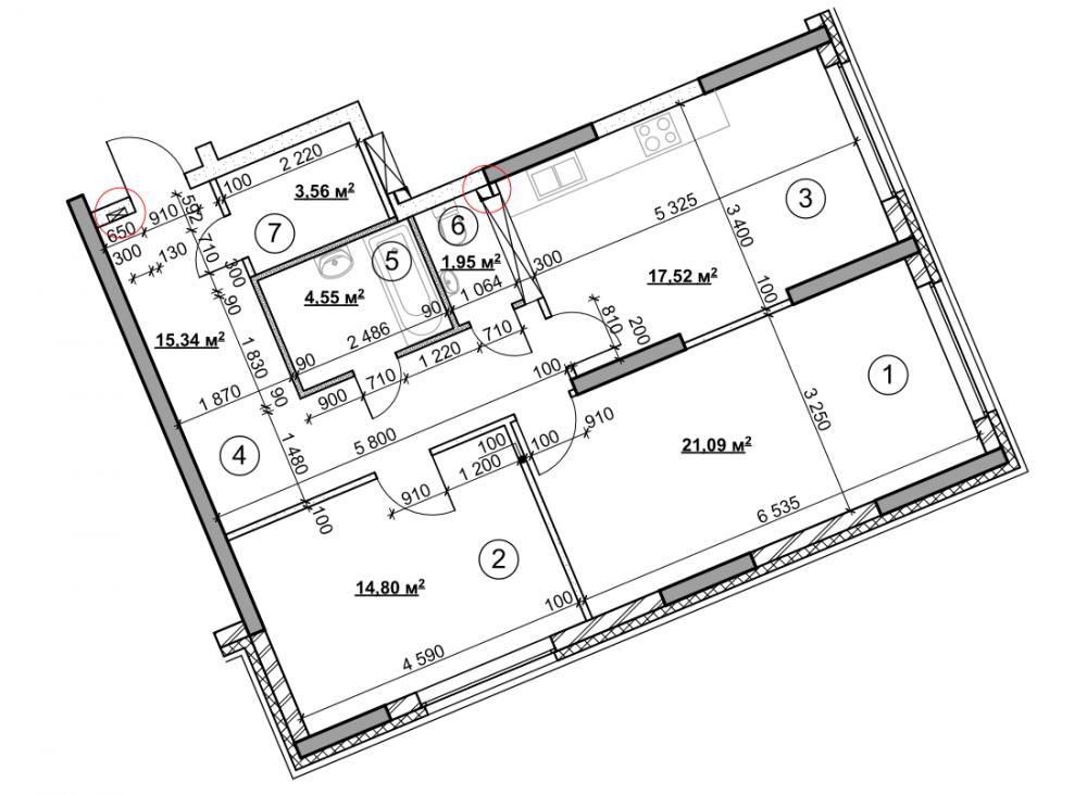Глобальная перепланировка 2к квартиры 80 кв м-2