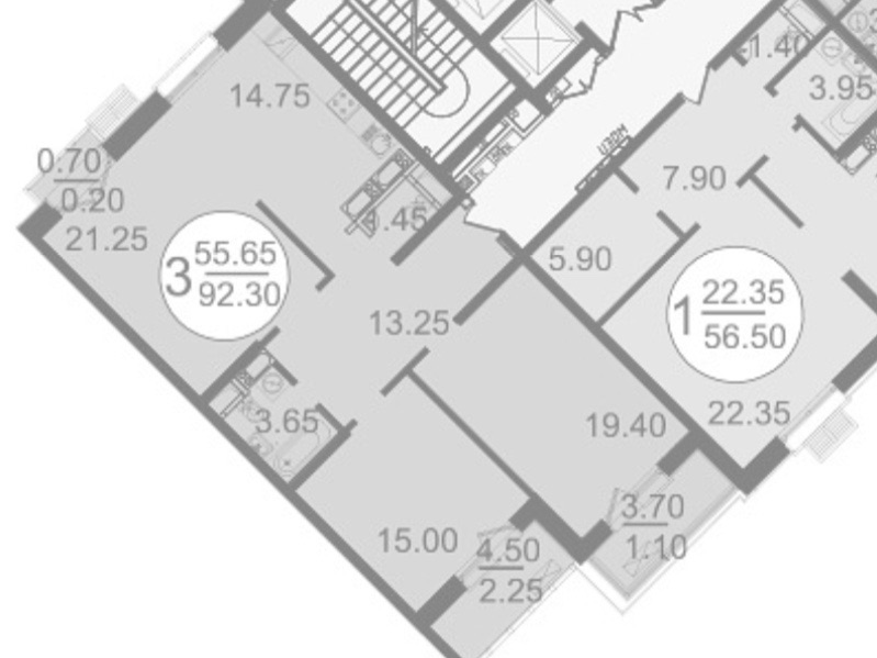 Планировка трешки 90 метров