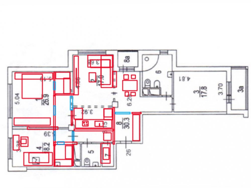 Требуются свежие идеи планировки трешки (125 кв.м.)-3