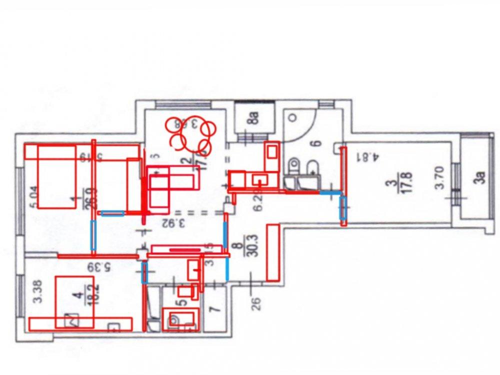 Требуются свежие идеи планировки трешки (125 кв.м.)-2
